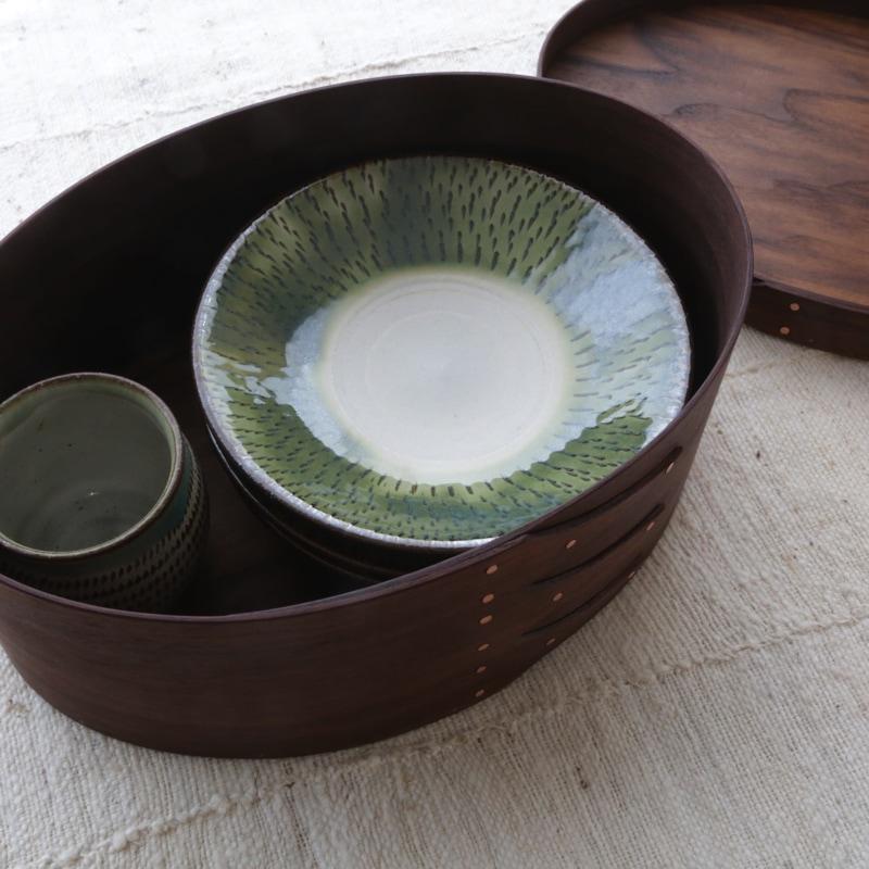 Okalu Oval Box(ウォルナット) S