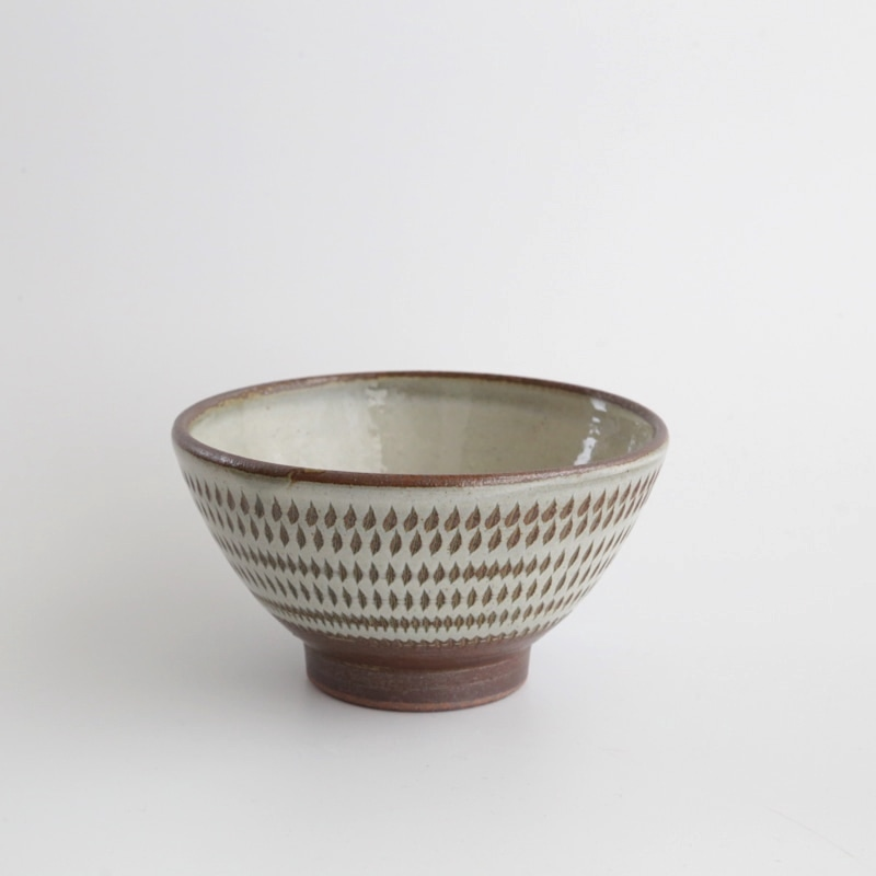 太田哲三窯・飛び鉋飯碗(小)