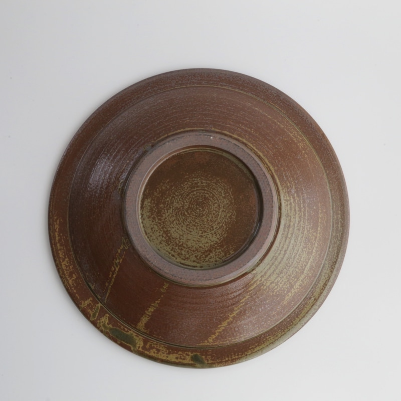 太田哲三窯・縁飛び鉋8.5寸皿