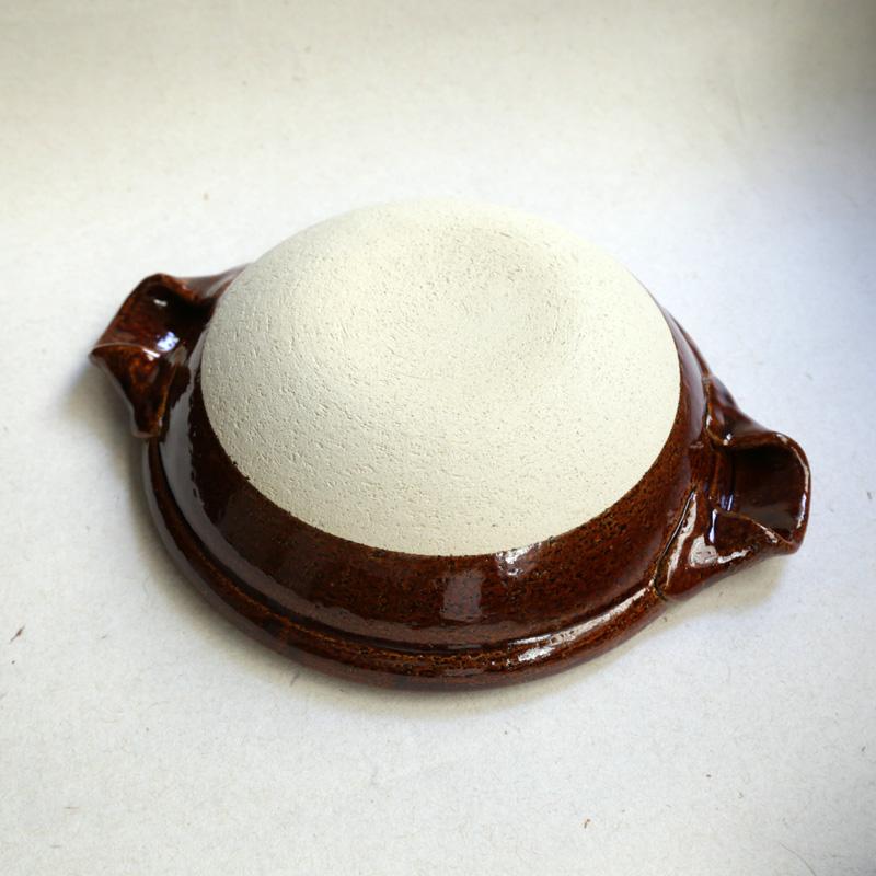 やまほん陶房・飴釉8寸土鍋