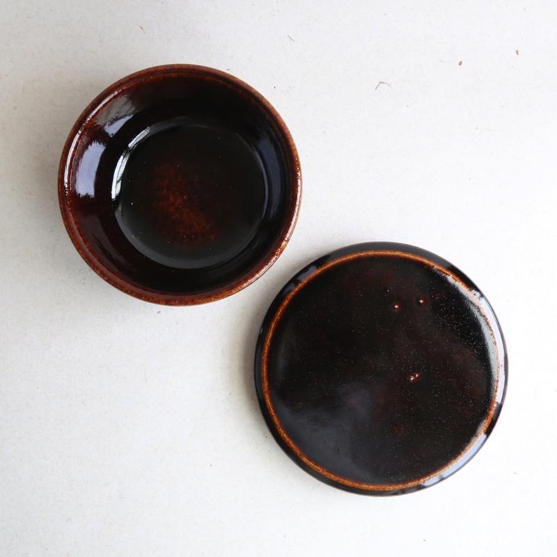 カネダイ陶器・ご飯入れ鉢(おひつ)1合(飴)