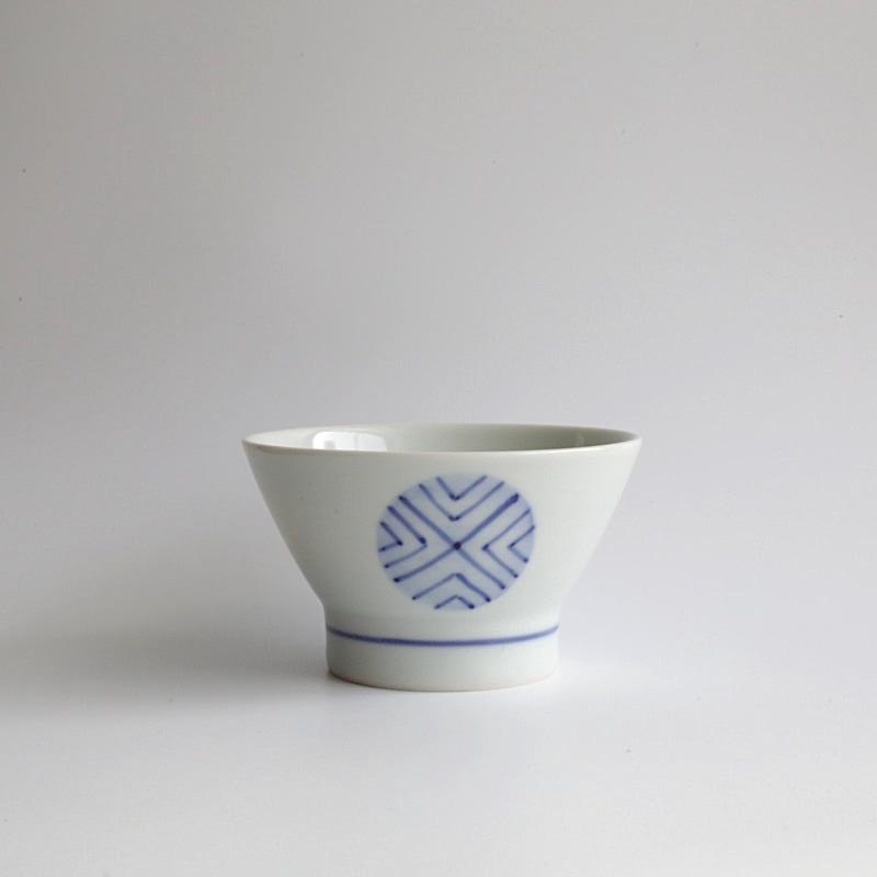 砥部焼・梅山窯 くらわんか茶碗 大(呉須丸紋)