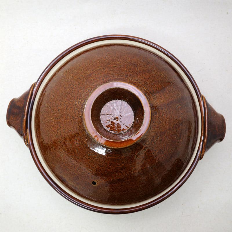 やまほん陶房・飴釉9寸土鍋