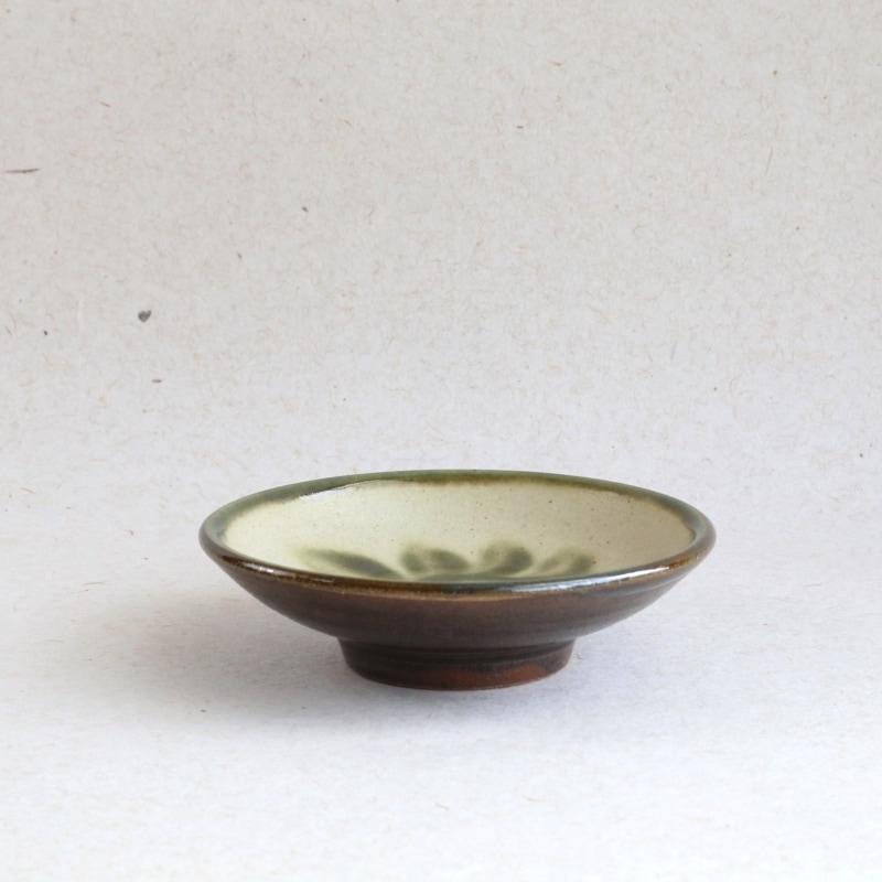 やちむん・唐草3.5寸皿(緑)