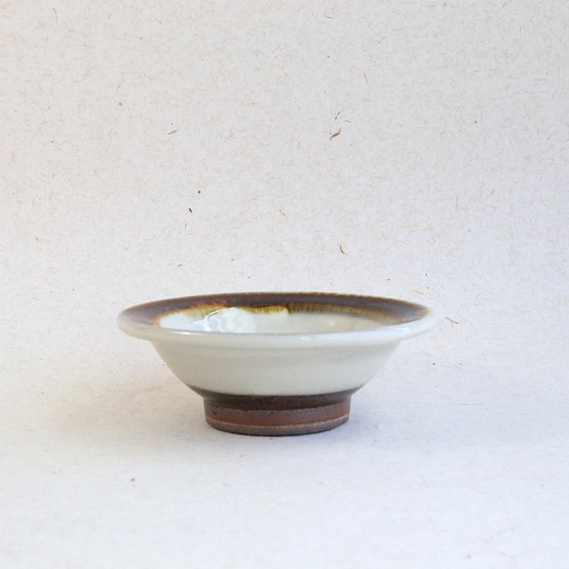 太田哲三窯・縁付3.5寸小鉢(飴)