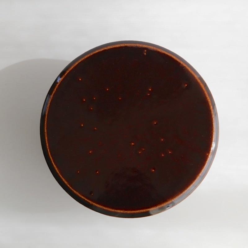 カネダイ陶器・ご飯入れ鉢(おひつ)2合(飴)