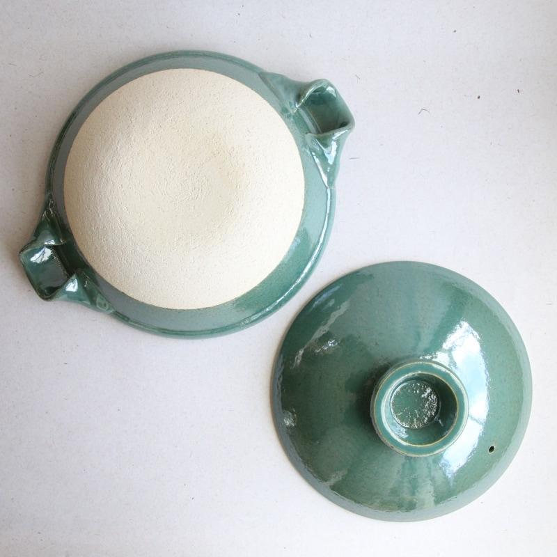 やまほん陶房・青磁釉8寸土鍋