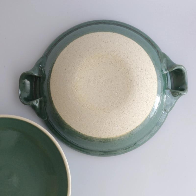やまほん陶房・青磁釉7寸土鍋