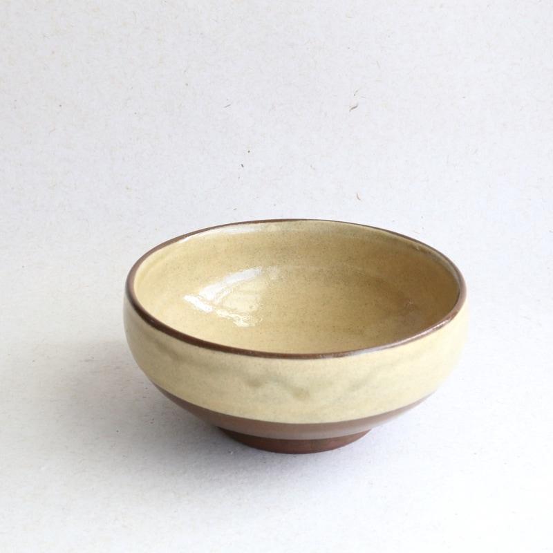 龍門司焼・掛分5寸深鉢(訳あり品)A