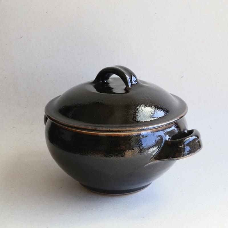 出西窯・饅頭蒸し(黒)