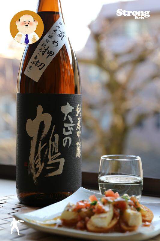 責め押切/大正の鶴 純米吟醸無ろ過生原酒 1800ml