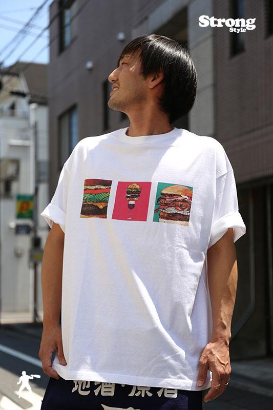 BookRoad Tシャツ ハンバーガープリント