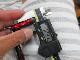 ストレート黒メタル アブ/ダイワ/シマノ M7の場合:アダプタ必要向け ハンドル ナット別売 雷魚 カゴ