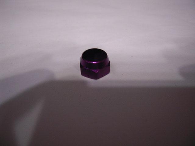 M7[紫パープル][左]ナット [10mm頭0.75P][アルミ・アルマイト] シマノ[M7に限る] 向け [社外品]