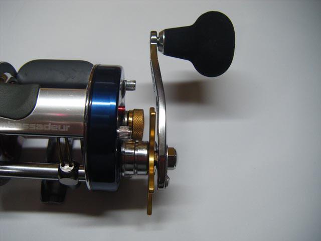 1穴 砲弾エルゴ アブ/ダイワ/シマノ M7の場合:アダプタ必要向け パワーハンドル ナット別売