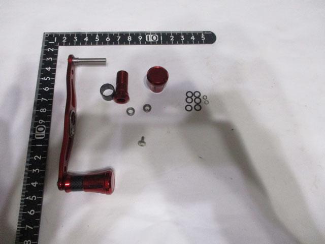 赤赤メタル アブ ダイワ シマノ M7の場合:アダプタ必要 カスタムパワー ハンドル ナット別売 雷魚 カゴ