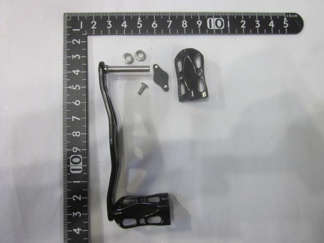 黒オフセット黒メタル アブ ダイワ シマノ M7の場合:アダプタ必要 カスタムパワー ハンドル ナット別売 雷魚 カゴ
