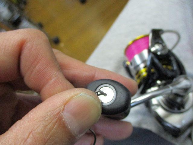 ノブキャップリムーバー ワイヤータイプ 太さ注意1.0mm 汎用 リール 雷魚 カゴ ジギング カスタム シマノ ダイワ アブ
