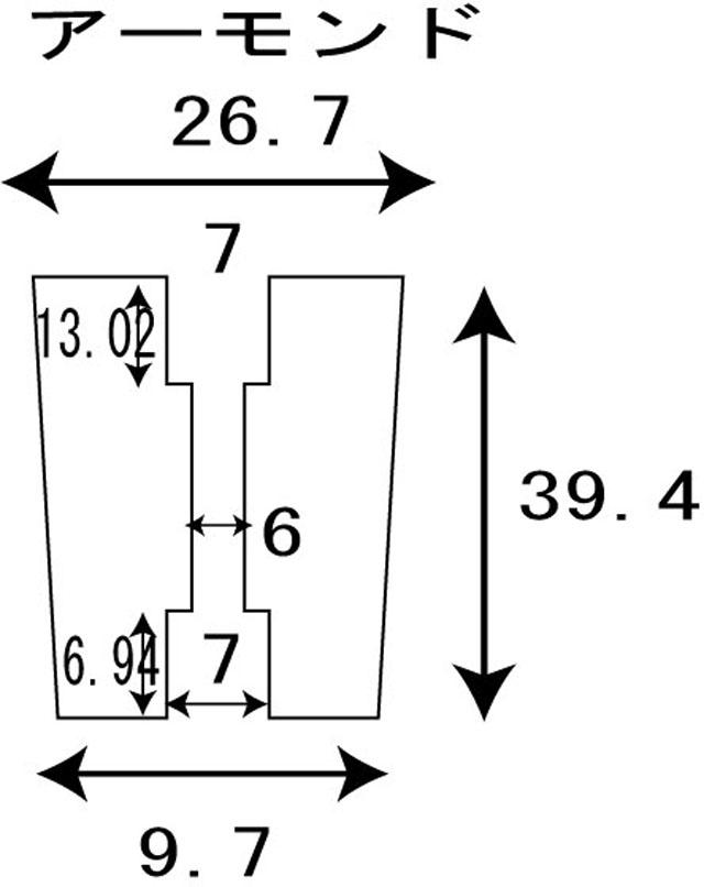 [1個][アーモンド][金ゴールド] パワーハンドルノブ 雷魚かごジギング ダイワ/シマノ向け 汎用4mmタイプ