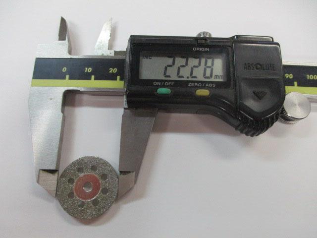 ディスクのみ 22mm ダイヤモンドカッター ルーター用 先端 ビット ロッドビルディング メイキング 雷魚 カゴ