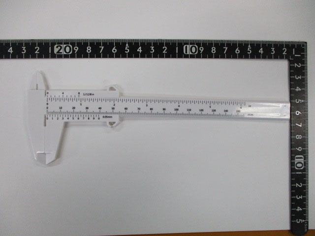 激安ノギス白 150mm 樹脂 汎用 激安 ロッドビルディング に! ダイワ/シマノ/アブ 香川塩ビ工業 測定