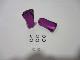 2個 ツマミ 紫パープル パワーハンドルノブ 雷魚かごジギング シマノ/ダイワ向け 汎用4mmタイプ
