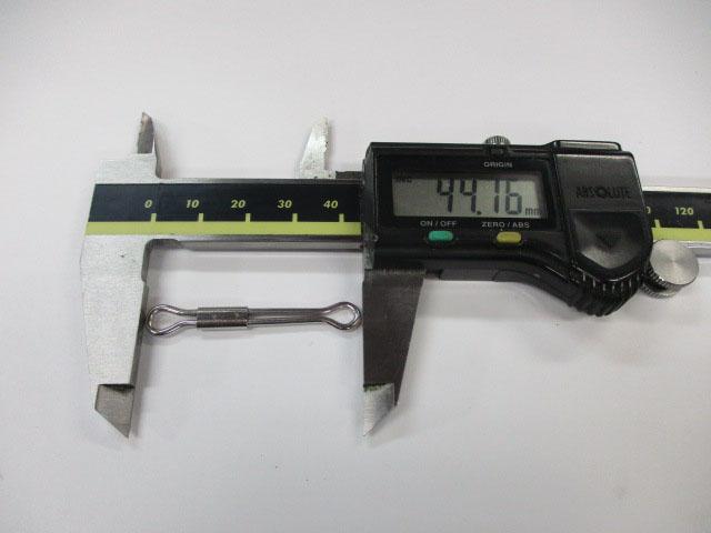 アイ 45mm 5本 ハネダクラフト スライドアイ 雷魚 ライギョ フロッグ チューニング ハネクラ