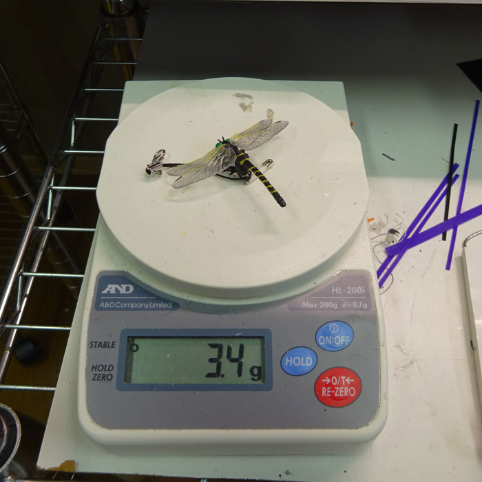 当店オリジナル おにやんま 型 ストラップ サイズ:スモール 虫除け キーホルダー オニヤンマ トンボ 雷魚 カゴ ウェーディング