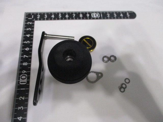 2穴ゴージャスエバ エルゴ アブ/ダイワ/シマノ M7の場合:アダプタ必要向け パワーハンドル ナット別売
