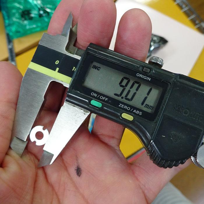 海水抑止シム 4-9-0.8 アルミ1枚 シマノ純正 ラインローラー アームローラー受け コアプロテクト キャンセル