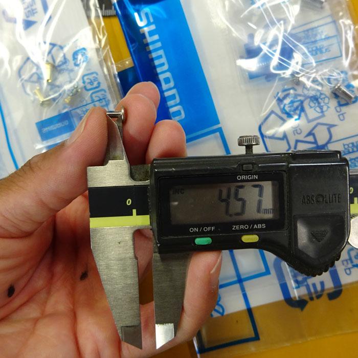 1本 シマノ純正 Aノブ用ビス ネジ止剤付 ダイワSノブ共用 M2.6-0.45P ステラ ツインパワー バンキッシュ
