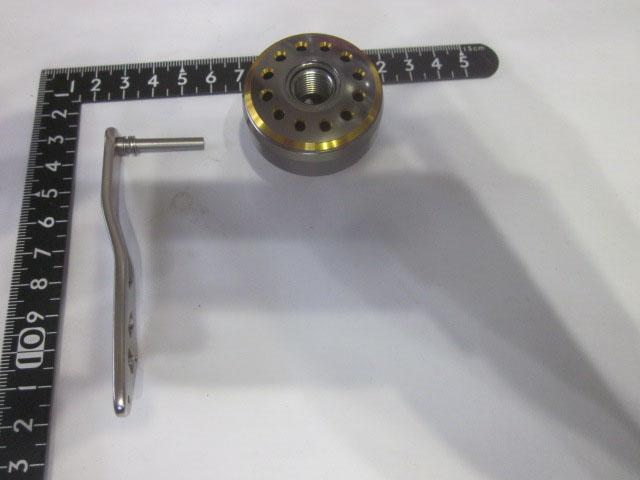 2穴金銀 エルゴ38 アブ/ダイワ/シマノ(M7の場合:アダプタ必要)向け パワーハンドル [ナット別売]