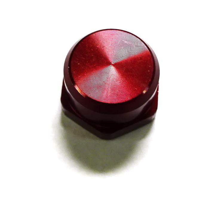 ナット M7 赤レッド 純正左  10mm頭0.75P アルミ・アルマイト シマノ M7に限る 向け