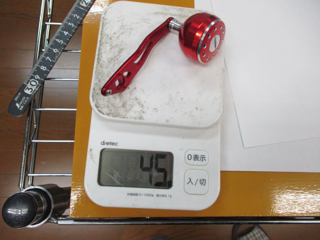 2穴 赤赤エルゴ 皮 アブ ダイワ シマノ M7の場合:アダプタ必要 パワー ハンドル ナット別売