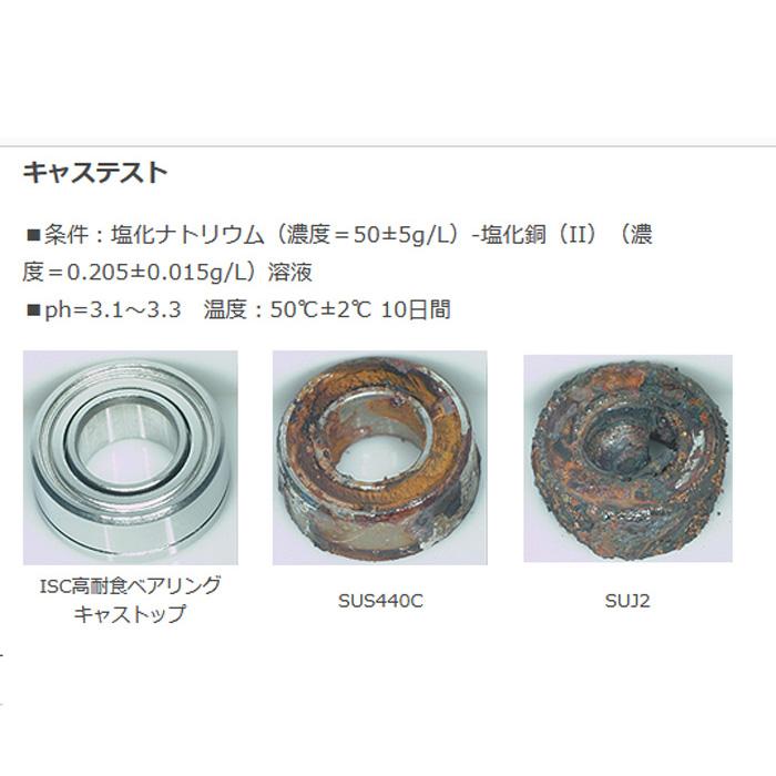 10個 4-7-2.5 ISC製 高耐食ステン キャストップ ベアリング SMR74A2-H-X1ZZ DDL740ZZ