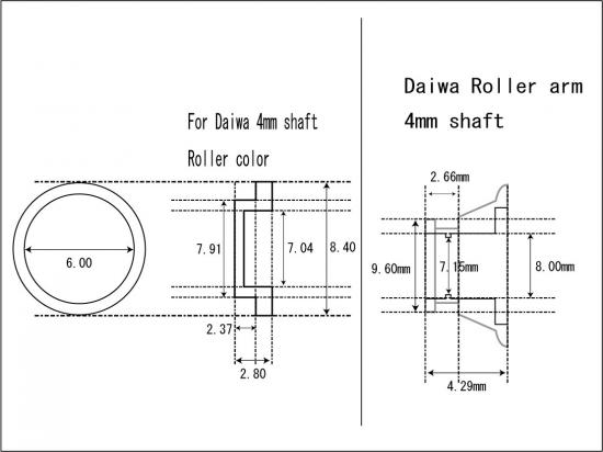 [005-B] ダイワ 740開放型 ラインローラー ダブルベアリング化キット [0.05シムが1組,NMB:DDL740が2個,カラーが1個] 12ルビアス等