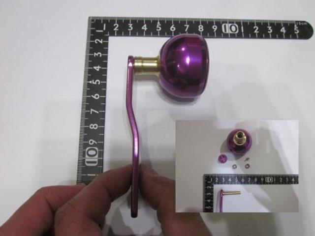 2穴 紫紫エルゴ アブ/ダイワ/シマノ M7の場合:アダプタ必要向け パワーハンドル ナット別売