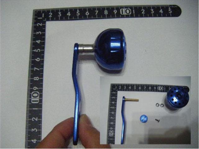 2穴 青青エルゴ アブ/ダイワ/シマノ M7の場合:アダプタ必要向け パワーハンドル ナット別売