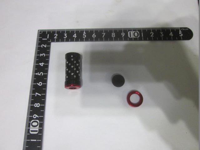 2個 筒ノブメタル 黒銀 パワーハンドルノブ 雷魚かごジギング ダイワ/シマノ向け 汎用4mmタイプ