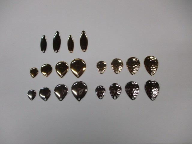 ブレード コロラド#0,1,2 ハンマード#0,1,2 ウィロー#1.5,2 銀金各 (1個)セット 日本の部品屋さん 雷魚