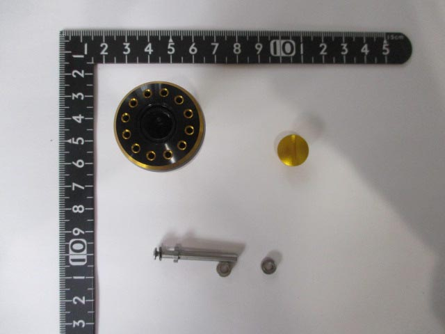 32mm中 黒金 パワー ハンドル ノブ 雷魚かごジギング ダイワ シマノ 向け 汎用 4mmタイプ