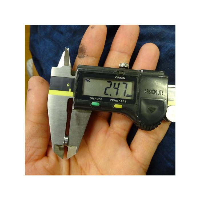 2個 フランジ部 外径8.5/幅0.6 DDLF740ZZ NMB ミネベア製 内径4 外径7 幅2.5  ステンレス ベアリング ラインローラー