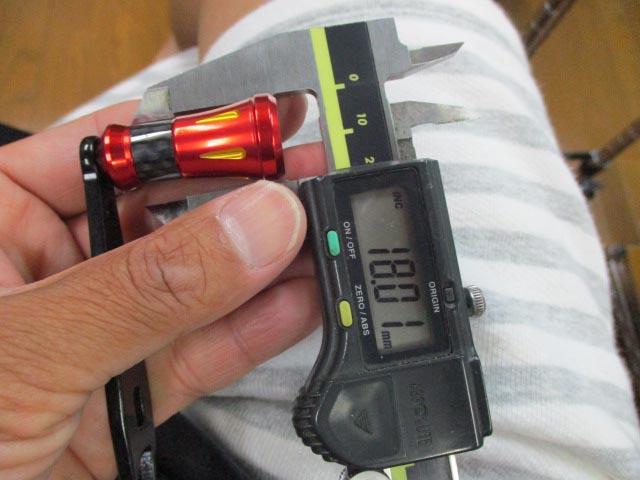ストレート ラッパ赤[小] アブ/ダイワ/シマノ(M7の場合:アダプタ必要)向け ハンドル [ナット別売] 雷魚 カゴ