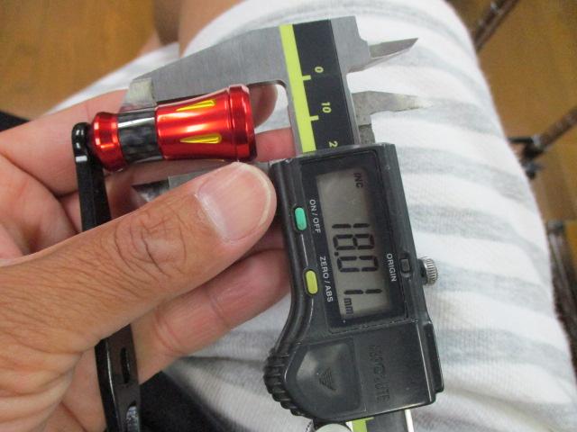 ストレート ラッパ青 小 アブ ダイワ シマノ M7の場合:アダプタ必要 ハンドル ナット別売 雷魚 カゴ