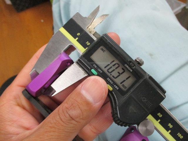 カーボンストレートショート青80mm アブ/ダイワ/シマノ M7の場合:アダプタ必要向け カスタムパワーハンドル ナット別売