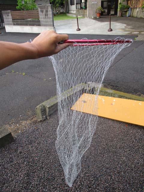 大型 70cm 替用 タモ網(ナイロン) 雷魚 ライギョ コイ 鯉 ランディングネット タモの柄