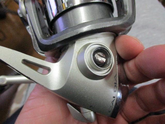 銀シルバー フレアー型 リールスタンド M11mmタイプ ダイワ/シマノ