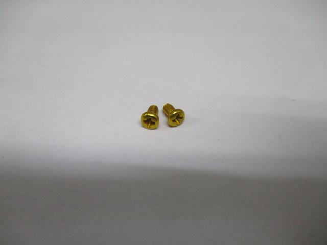 [金2本][M2.5-4mm-P0.45]リテーナー用ビス アルミアルマイトカラー品 ダイワ/シマノ