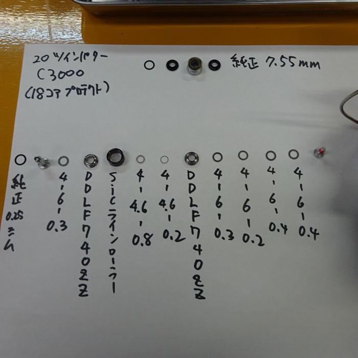 汎用 SIC ラインローラー (本体 シム ベアリング セット) LF740ZZ ST シマノ 向け コアプロテクト キャンセル