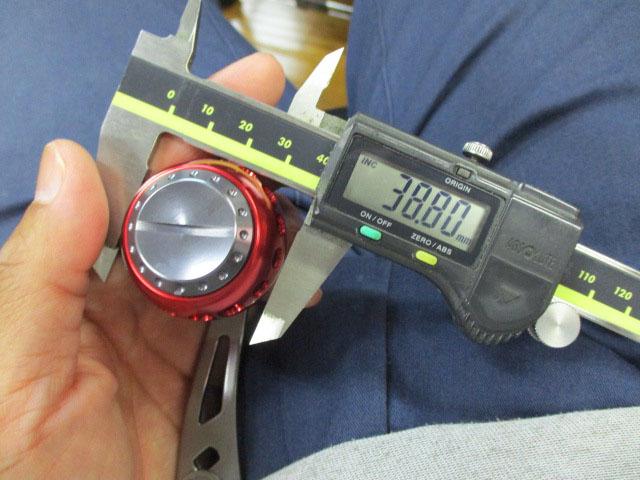 1穴 銀エルゴ アブ/ダイワ/シマノ M7の場合:アダプタ必要向け パワーハンドル ナット別売